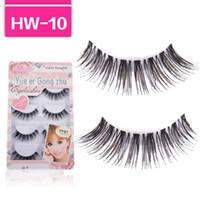 false eyelashes - Handmade Pair pairs box Natural Long False Eyelashes Fake Eye Lashes Eyelash