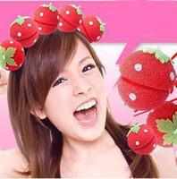 Wholesale Fashion Hair Care Product Strawberry Sponge Hair Care Roller Curler Roll Curl