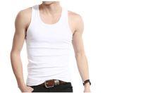 Wholesale Summer bodybuilding clothing solid cotton O neck men tank top fitness singlets mens undershirt sport
