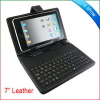 Wholesale 10 DHL quot USB Leather Case With keyboard for inch Tablet PC Hotsale Lowest price Christams sale A0591A
