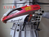 Wholesale Promotion days only cm CH Gyroscope System Metal Frame RC Helicopter Toy with LED lights