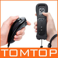 Wholesale Nunchuck Wireless Remote Game Controller with Skin For GAME032BT