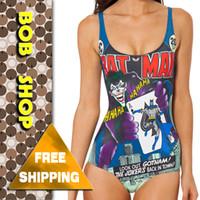 batman shop - Bob shop SW027 new JOKER S REVENGE one piece swimsuit of BATMAN black milk swimwear monokini for women
