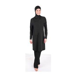 Wholesale-Plain color muslim swimsuit women islamic Swimwear beachwear