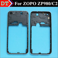 Wholesale Original ZOPO ZP980 C2 Middle Frame Chassis Housing Plate With the lens GPS antenna WIFI antenna Black Color