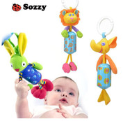 Cheap Wholesale-Sozzy animal chimes baby rattle toy Elephant,Lion,Deer,Rabbit kids product bed car hanging toys free shipping