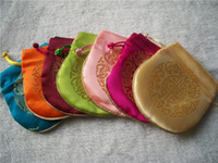 Wholesale 50 X12cm Silk jewelry pack bagging many color mixture