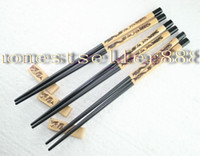 Wholesale 10 PAIRS WOODEN TRAD CARVE CHOPSTICKS WITH DRAGON