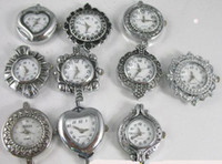 Wholesale 10 Mixed Silver Quartz Watch face for beading