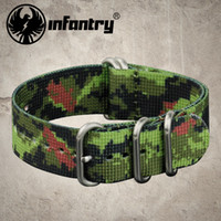 camo fabric - Infantry US Military Sport mm G10 Green Camo Nylon Fabric Straps Bands Rings NEW Heavy Duty Watchbands