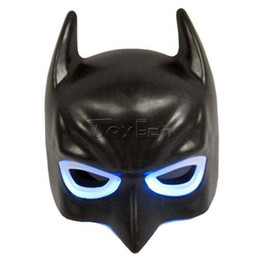 Wholesale Light Up Batman Bat Man LED Mask for Party Halloween Cosplay Costume Accessory Toy Gift
