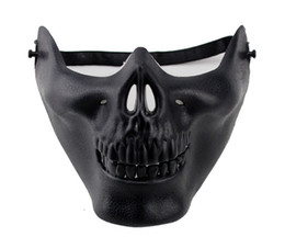 Wholesale Cheap Cost Hard PVC Airsoft Paintball Skeleton Skull Mask Half Face Protective CS Games Counterterrorism Mask
