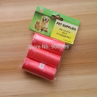 Wholesale New Pet Dog Carbage Case rolls pet poop bag with cute flower printing roll cm colors supply