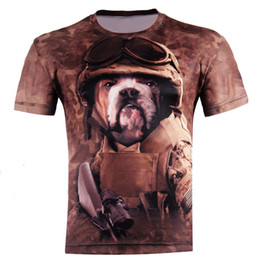 Wholesale Come and buy Dog Soldiers Fashion D T shirts Punk D Short Sleeve Tee Shirt S XL High quality Style Men s T Shirts