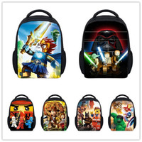 Wholesale Inch Small Star Wars Backpack Kids School Bags for Boys D Marvel Super Hero Lego Schoolbag Baby Kindergarten Bag Child Bags