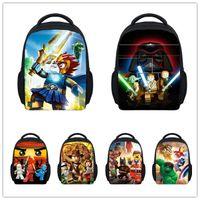 Wholesale Inch Small Star Wars Backpack Kids School Bags for Boys D Marvel Super Hero Lego Schoolbag Baby Kindergarten Bag Child Bags