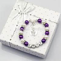 baby name bracelets - baby Name Personalised Girl Birthday Gift Charm Bracelet With Box