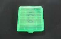 Wholesale AA AAA Battery batteries cases aa aaa Hard Plastic Case Holder Storage Box container