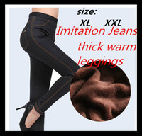Wholesale Hot More style selection new women winter legging fashion casual leggings thick warm fluff new large size jeans women A117