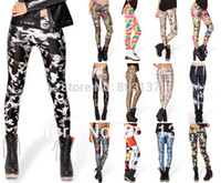 age house - New Women GOLDEN AGE GOTHAM S MOST WANTED MONDRIAN RAINBOW BRIGHT HAUNTED HOUSE LEGGINGS Digital Printing Sexy