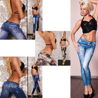 american apparel ties - Footless leggings women jeans harajuku slim printed leggings jeans jeans tie dye clothing women american apparel