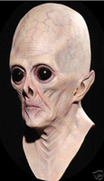 aliens props - Creepy Halloween Cosplay Theater Prop Novelty Alien Head Mask Latex Adult One Size fits all Costume mask MJ