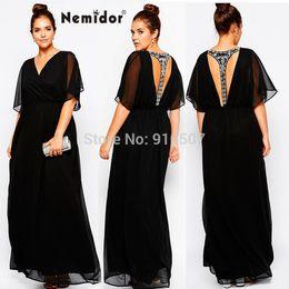Wholesale-2015 Summer Women Plus Size Evening Elegant Dresses Casual T-Bar Hand-make Diamonds Party Long Maxi Dress 6XL