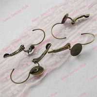 antique earrings leverback - Leverback EarWire clip Rivoli Setting mm Earring Hook Findings Accessories Gold Silver Antique Bronze