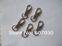 Cheap Wholesale-50 Mini Silver Tone Metal Swivel Lobster Clasps Clips