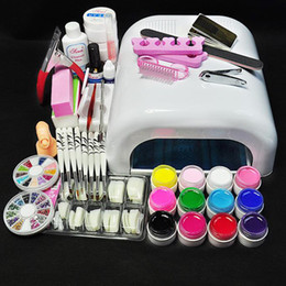 Wholesale White Lamp amp Color UV Gel Nail New Pro W UV GEL Nail Art Tools Sets Kits