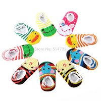baby booties pattern - pairs floor socks anti slip Infant Toddler Baby cute Cartoon Pattern Anklet booties hot selling