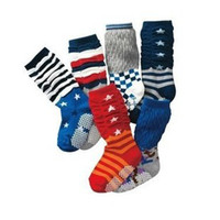 baby gingham - pairs Fashion Five Pointed Star Stripe Plaid and Gingham Pattern Kids Hose Baby Socks