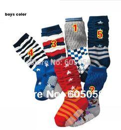 Wholesale to years retail Girls boys colors select one pair baby Socks anti slip children knee high sock retail New uhu040