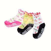 non slip socks - LOWEST PRICEKids Baby Girls Cotton Warm Cherry Pattern Ankle Socks Non slip Socks Years