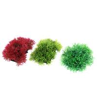 Wholesale Fish Tank Aquarium Artificial Plastic Aquatic Plant Decor Green Red x8cm