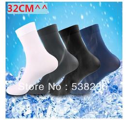 Wholesale sock long pairs Men stockings ultra thin bamboo fibre socks cm colors black white blue gray