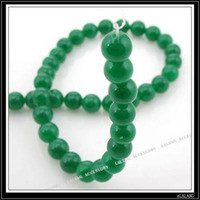 Wholesale New Round Green Jade Gemstone Loose Bead mm Fit Jewelry DIY