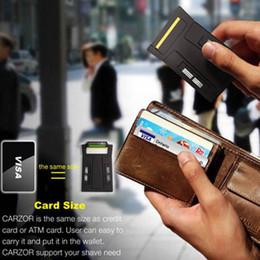 Créatif! Black Carzor ultra-mince carte de rasoir portatif nouveau élément pour le rasage 20pcs / lot