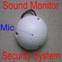 Wholesale White round Sound Monitor for CCTV Security system surveillance mic microphone voice pick up