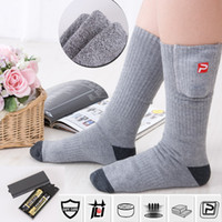 Wholesale Heated Socks v AA Battery Rechargeable Battery Warm Feet Treasure Battery Heated Socks Foot Warmer Heated Insoles Power