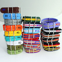 Wholesale Hot High quality MM Nylon NATO waterproof watch strap fashion wach band Multicolor color available