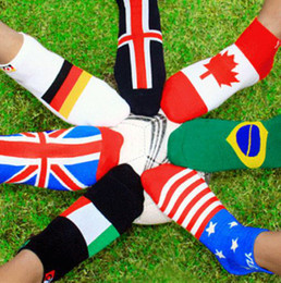 Wholesale-Brazil World Cup soccer flag socks personality trend in Europe 20pcs=10pairs=1lot 100% cotton casual socks with 8 designs