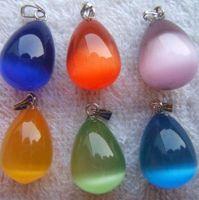 Wholesale mixed cats eye drop pendants