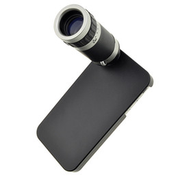 Wholesale-Free Shipping 8X Optical Zoom 18mm Lens Mobile Phone Telescope for iPhone 4 4S , mobile phone telescope MOQ:1 pcs