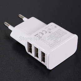 Wholesale USB Ports EU European Plug Home Travel Wall AC Power Charger Adapter For iPhone iPad Sumsang Galaxy S4 S5 Note Tab
