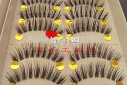 Wholesale Handmade beautiful Pair Thick Long False Eyelashes Eyelash Eye Lashes Voluminous Makeup drop ship
