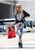 beautiful avatars - New Fashion Printing Color Plaid Beautiful Avatar Newspaper Seamless Stretch Leggings