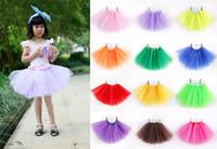 Wholesale Baby Girls Kids Child Tutu Skirt Mini Dress Party Ballet Dance Skirt Short skirts