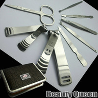 Wholesale Korea Proffessional Manicure set Nail Clipper Trimmer Tweezers Kit High Quality HOT