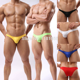 Wholesale Avant Garde Youthful Mens Sexy Smooth Tanga Briefs Underwear Penis Bulge Pouch Thong Mini Briefs WD941